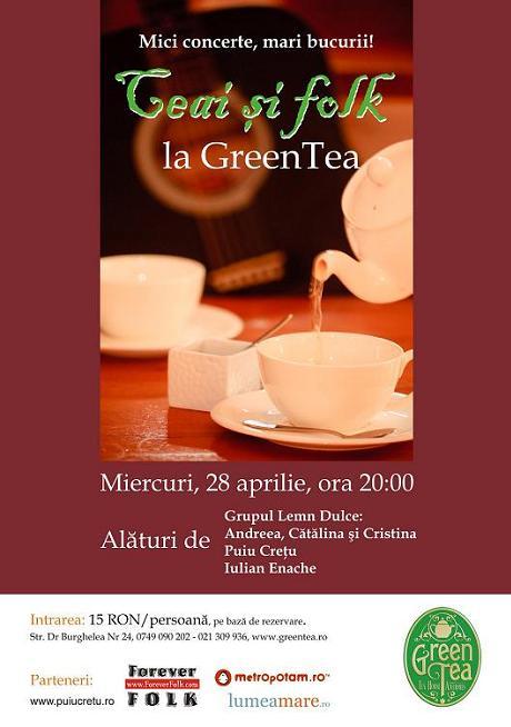Urmatorul concert Lemn Dulce in Green Tea pe 28 aprilie